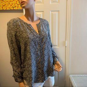Joie silk blouse - Black - Sz L